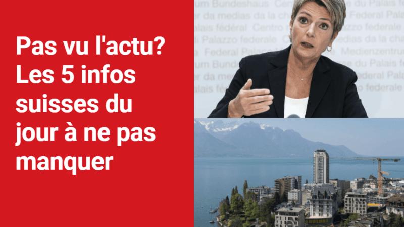 Les 5 infos à retenir dans l'actu suisse de ce lundi 11 octobre