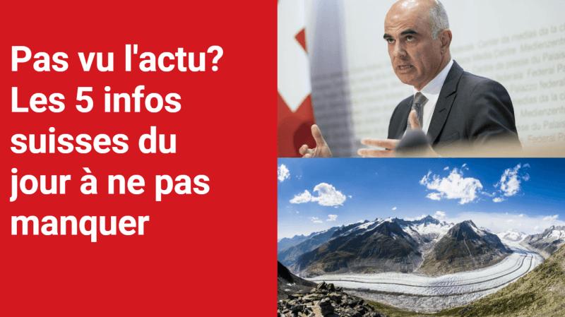 Les 5 infos à retenir dans l'actu suisse de ce mercredi 13 octobre