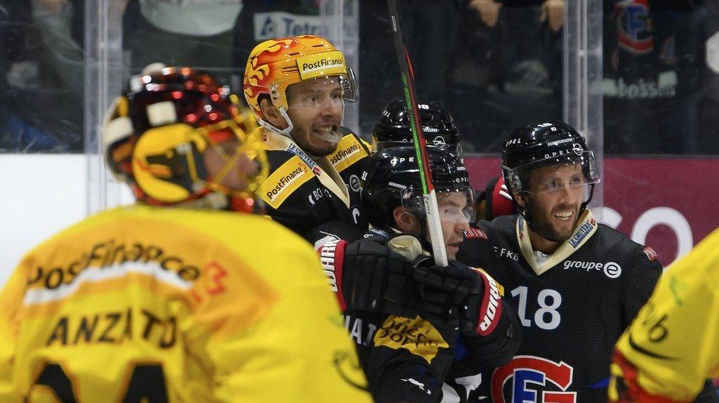 Hockey: Fribourg s'impose face à Berne et prolonge sa série record de victoires, Lausanne et Genève battus