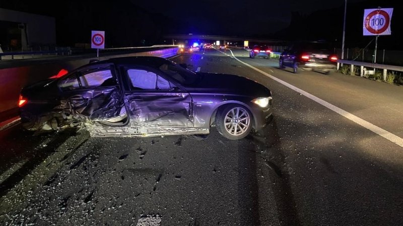 L'accident de mercredi a fait deux blessés heureusement légers et provoqué la fermeture de l'autoroute durant près de trois heures.