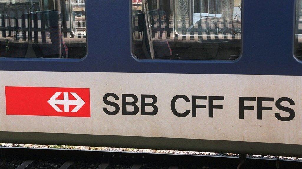 Les panneaux d'affichage des CFF partiellement hors-service