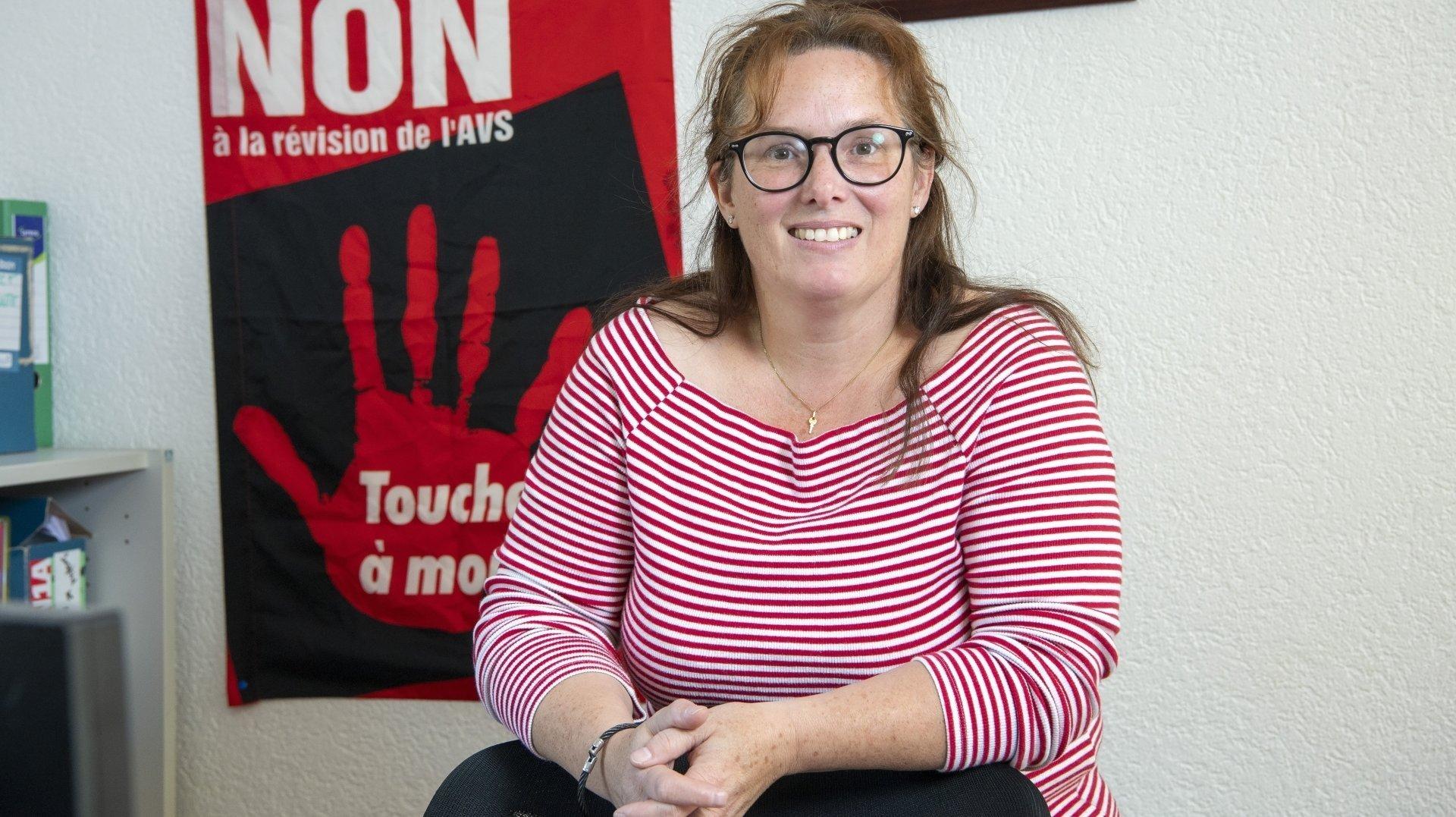 Passionnée et militante, Francine Zufferey est la première présidente de l'Union syndicale valaisanne