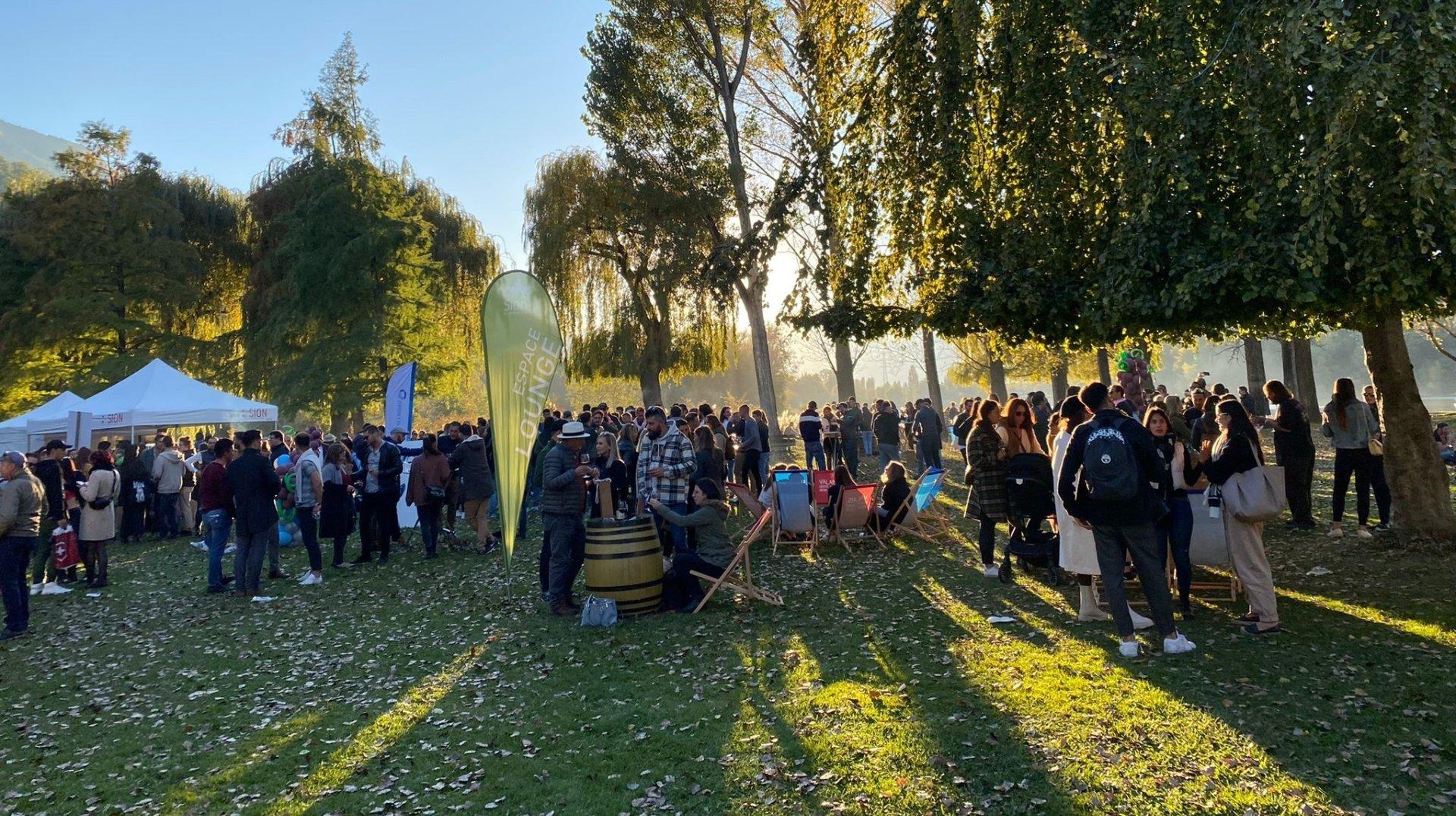 4400 visiteurs sur trois jours au Jardin des vins à Sion