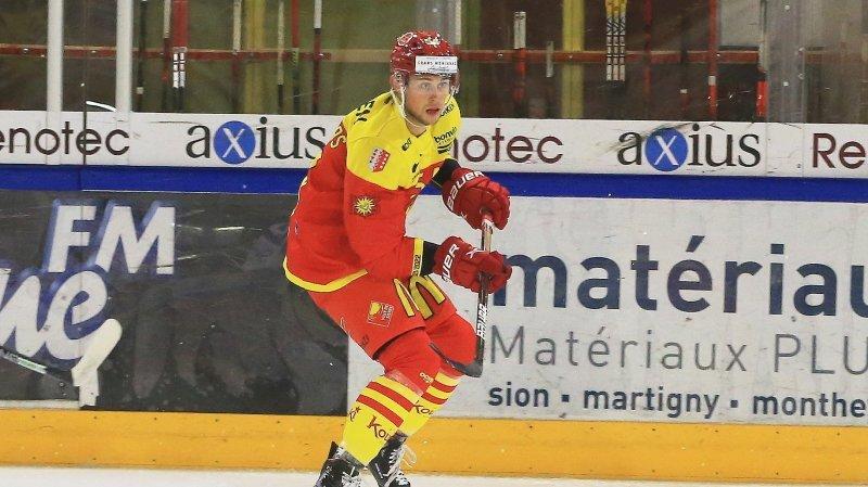 Emilijus Krakauskas a inscrit son premier but avec Sierre.