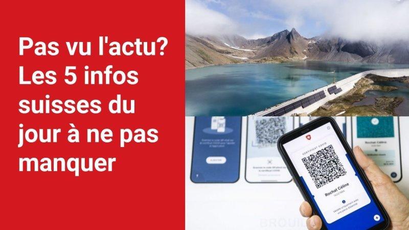 Les 5 infos à retenir dans l'actu suisse de ce vendredi 8 octobre