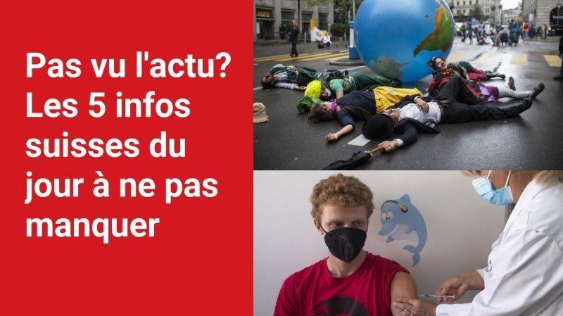 Les 5 infos à retenir dans l'actu suisse de ce lundi 4 octobre