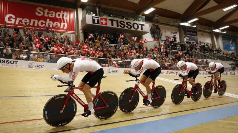 Championnats d'Europe sur piste: le «quatre» suisse en argent