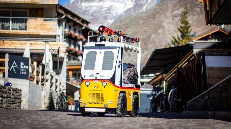 Saas-Fee: voici le robot qui porte les bagages