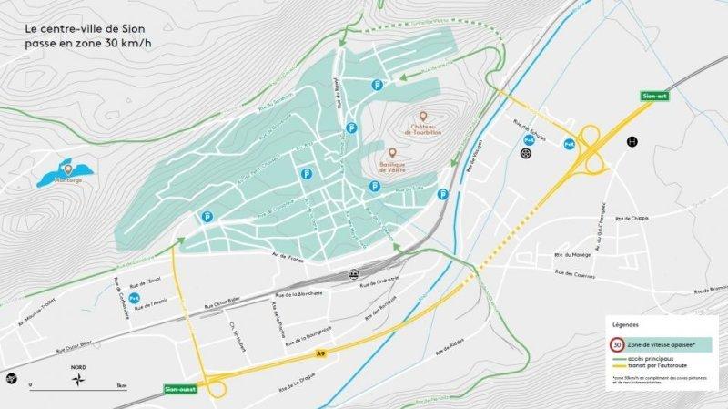 Sion apaisera son trafic en faisant passer le centre-ville en zone 30