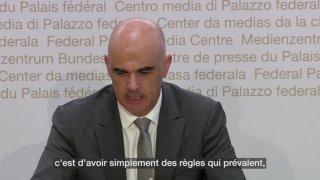 Alain Berset s'exprime sur la question du certificat covid dans les remontées mécaniques