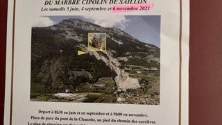 Sur les traces historiques du marbre de Saillon