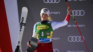 Lara Gut-Behrami, 2e du géant de Sölden. «C'est la confirmation que je suis en train de bien skier»