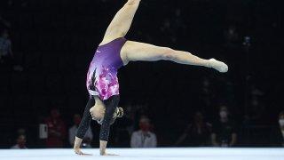 Gymnastique: Stefanie Siegenthaler en finale du concours général des Mondiaux de Kitakyushu