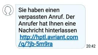 Des SMS en allemand qu'il ne faut pas ouvrir