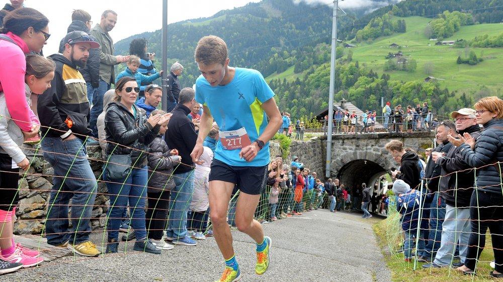 Thomas Terrettaz, récent 7e aux championnats de Suisse de montagne lors de la Monthey d'Illiez.