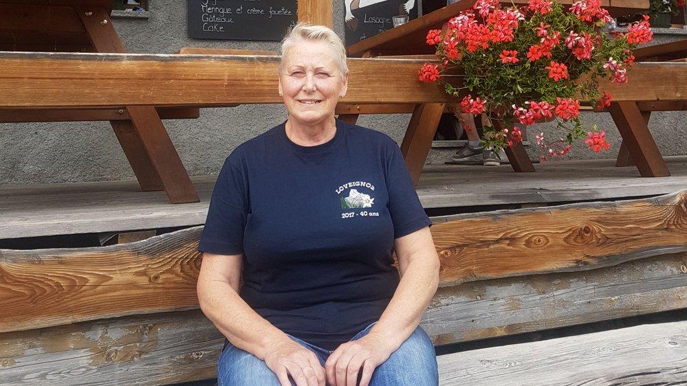 Lise Es-Borrat veille sur son alpage de Loveignoz depuis 40 ans.