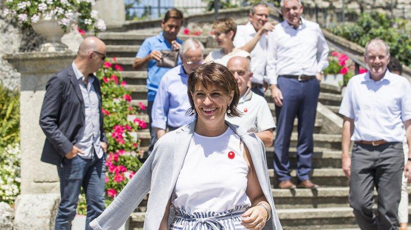 """Le Conseil fédéral en """"course d'école"""" en Argovie: Doris Leuthard fait découvrir son canton à ses collègues"""