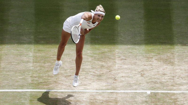 Wimbledon: Timea Bacsinszky s'incline en trois sets