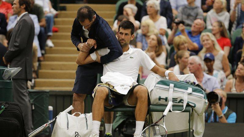 Wimbledon: blessé, Novak Djokovic abandonne