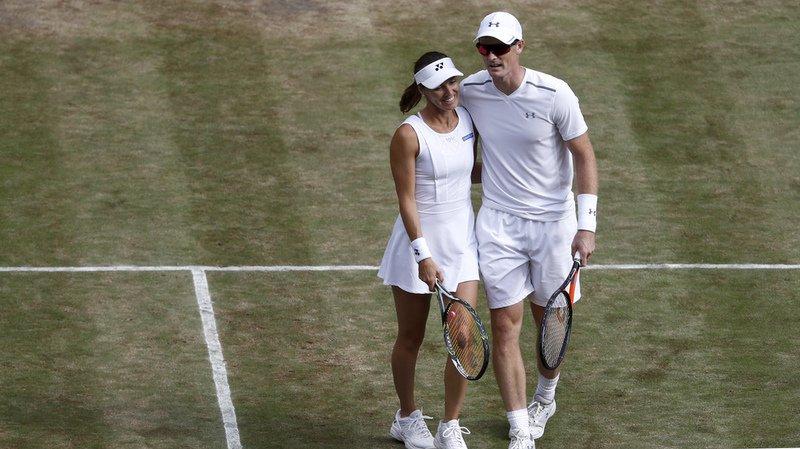 Wimbledon: Hingis/Murray en demi-finale du double mixte