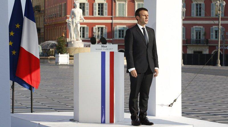 """A Nice, Macron rend hommage aux victimes de l'attentat de 2016: le 14 juillet """"ne sera plus jamais le même"""""""