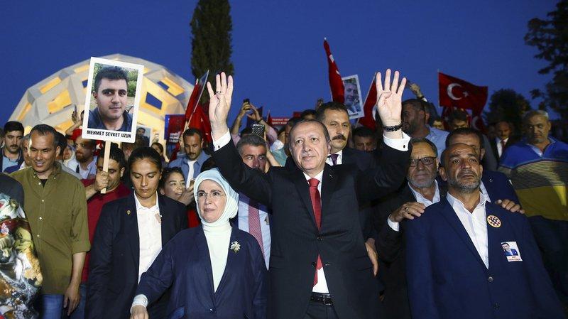 Turquie: Erdogan a célébré le premier anniversaire du Putsch manqué