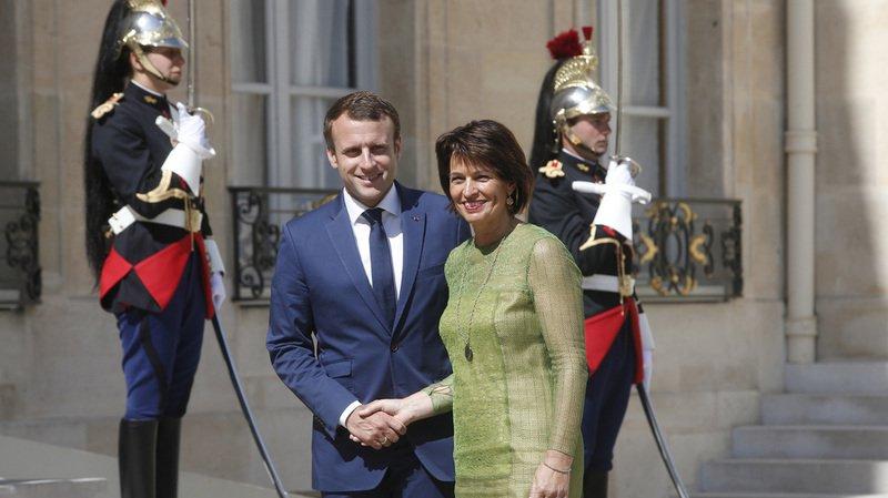 """Paris: première rencontre """"positive"""" entre Doris Leuthard et Emmanuel Macron"""
