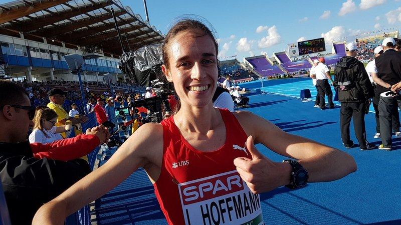 Lore Hoffmann  en finale sur le 800 m
