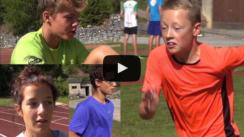 Quels sont les espoirs des graines de champions de l'athlétisme valaisan? Ils nous expliquent...