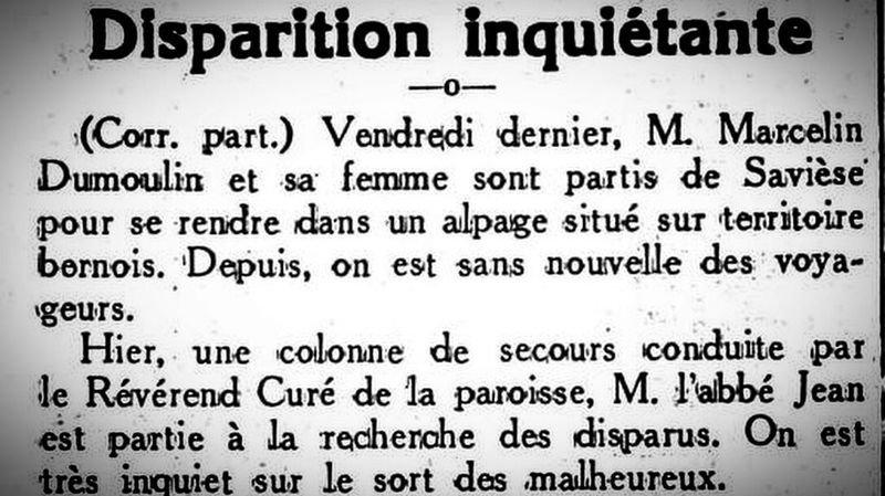 """L'article paru dans """"Le Nouvelliste valaisan"""", le 20 août 1942."""