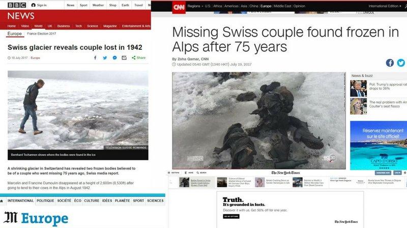Les époux Dumoulin retrouvés sur le glacier de Tsanfleuron font le tour du monde