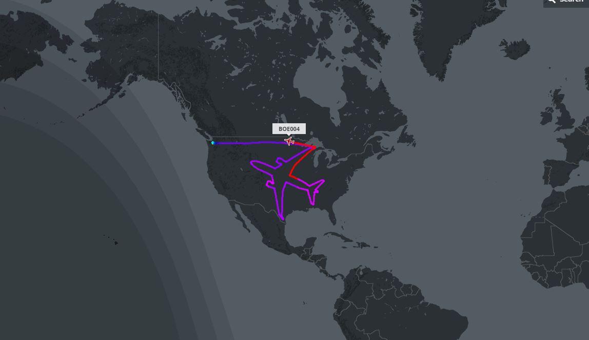 Boeing, dessine-moi un avion dans le ciel (vidéo)