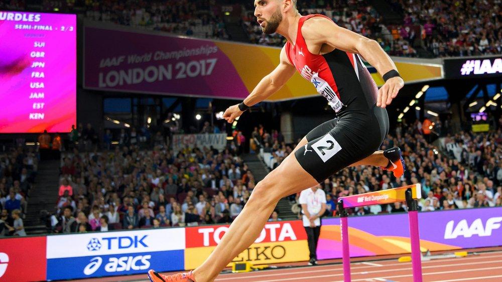 Kariem Hussein, qui s'est qualifié hier soir pour la finale du 400 m haies, peut faire valoir son gabarit dans sa discipline de prédilection.