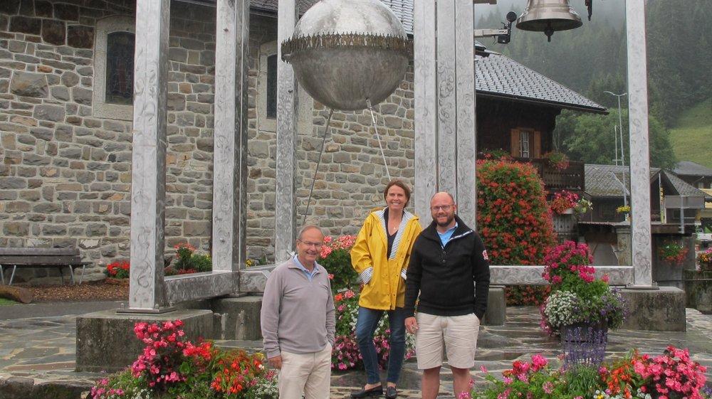 Etienne Bertrand, Patricia Connelly et André Burdet apprécient la station de Morgins et se disent prêts à l'aider.