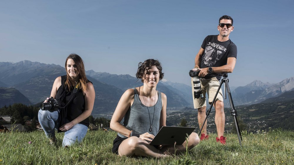 Jessica Jutzi, Carolame Reva et Massimo Prati sont trois des onze participants de la première Résidence d'artistes de Crans-Montana.