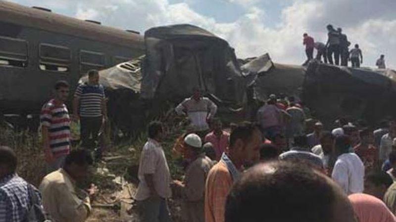 Egypte: une collision entre deux trains fait au moins 42 morts et plus de 130 blessés à Alexandrie