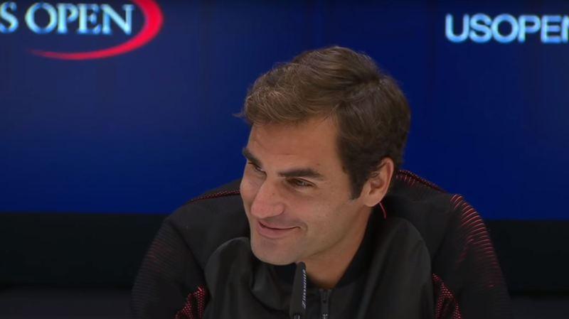 Roger Federer a répondu aux questions de son mieux.
