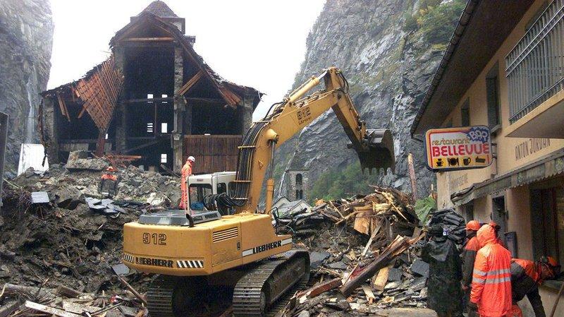 De Gondo à Bondo: les glissements et éboulements en Suisse depuis 2000