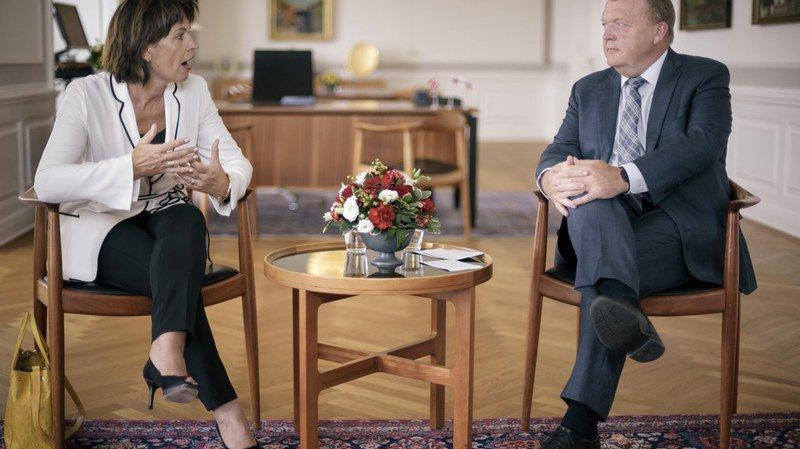 Climat et coopération dans l'Arctique: la rencontre entre Doris Leuthard et le Premier ministre danois