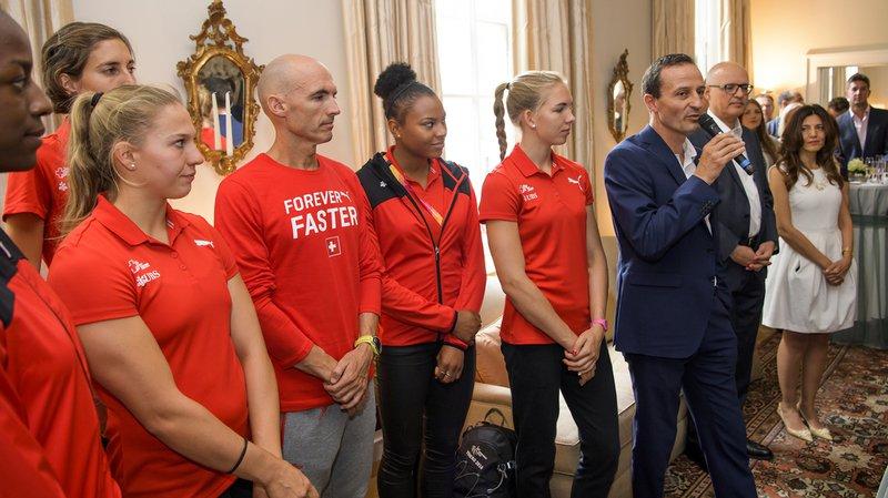 Mondiaux d'athlétisme de Londres: des sportifs helvétiques reçus à l'ambassade suisse
