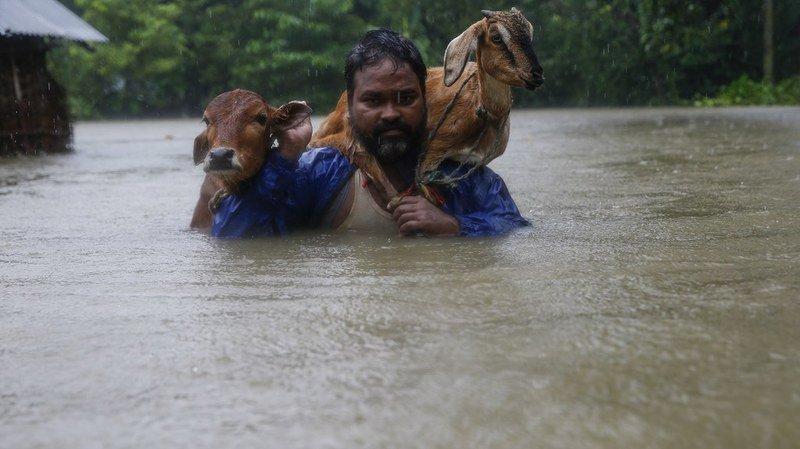 94 morts suites à des jours de pluies torrentielles — Inde et Népal