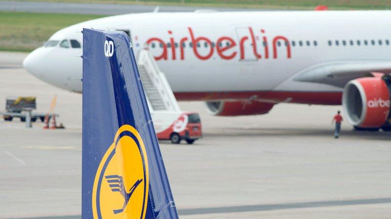 """Air Berlin dépose le bilan, Lufthansa intéressée par """"le rachat d'activités"""" de la compagnie allemande"""
