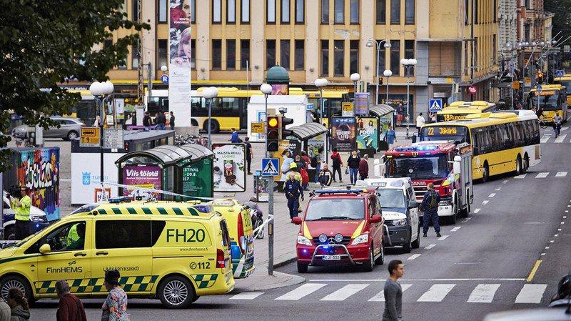 Le centre-ville de Turku a été bouclé.