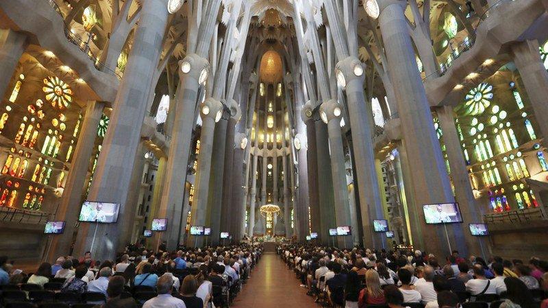 Attentats de Barcelone: un hommage aux victimes a été rendu à basilique de la Sagrada Familia