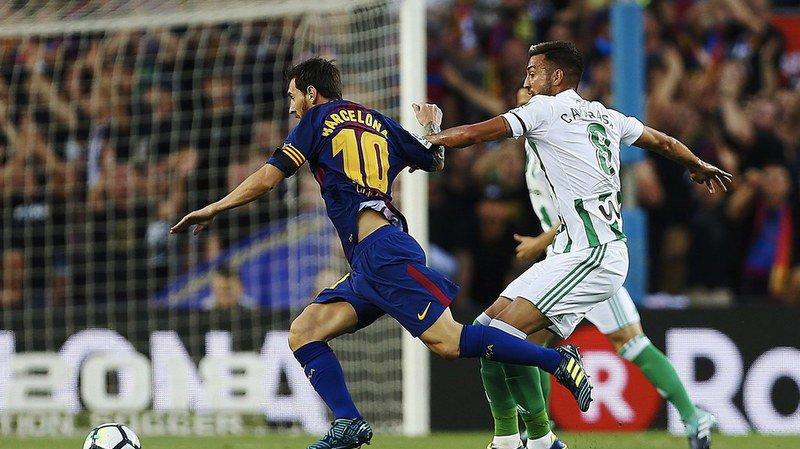 Messi a touché trois fois le poteau, sans parvenir à marquer
