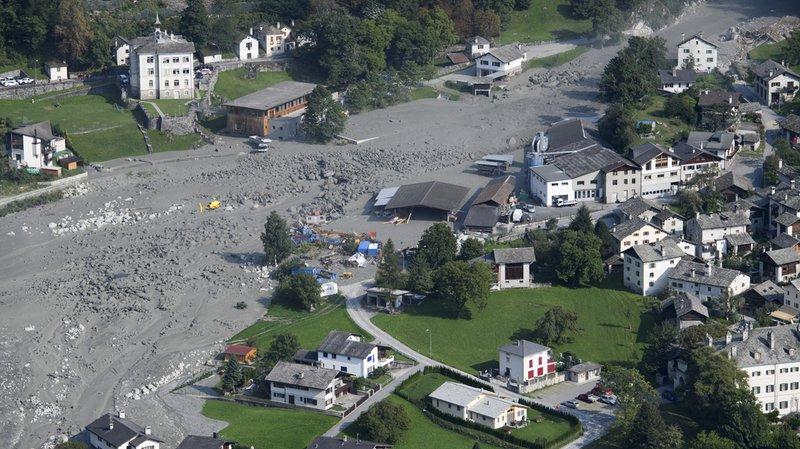 Éboulement à Bondo (GR): une nouvelle coulée a déferlé sur la vallée
