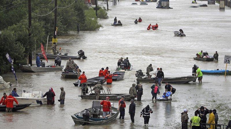 Une grande partie de cette zone au sud de Houston est sous les eaux depuis quatre jours à cause de la tempête Harvey.