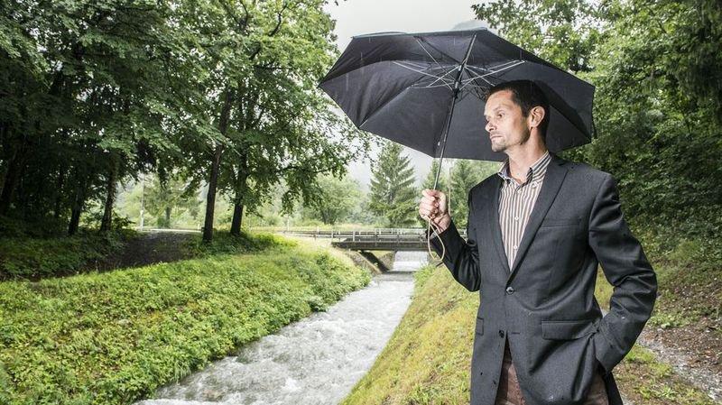 Président de la commune et de la SA, Laurent Lattion espère une production de 6,25 millions de kWh sur les eaux du torrent de l'Avançon.
