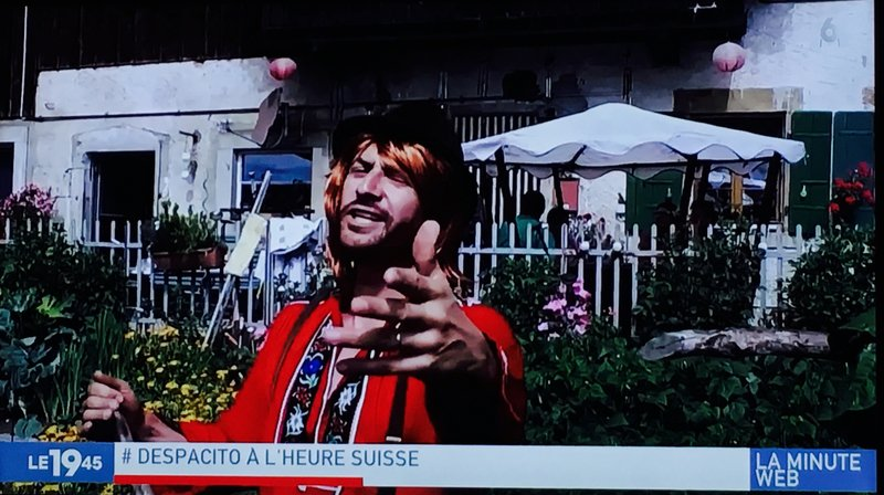 La chaîne M6 a diffusé le clip suisse ce mercredi soir.