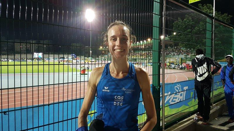 Lore Hoffmann était tout sourire après sa course en Italie.
